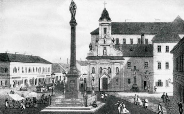A Rókus kórház (a szülészetet Semmelweis vezette)
