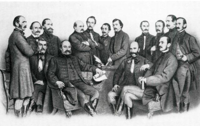 A pesti orvosi kar (hátul középen Semmelweis)